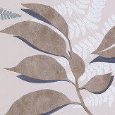 Osborne & Little Feuille D'Or Stone / Gilver Wallpaper - Product code: W7331-05