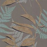 Osborne & Little Feuille D'Or Cacao / Gold Wallpaper - Product code: W7331-06