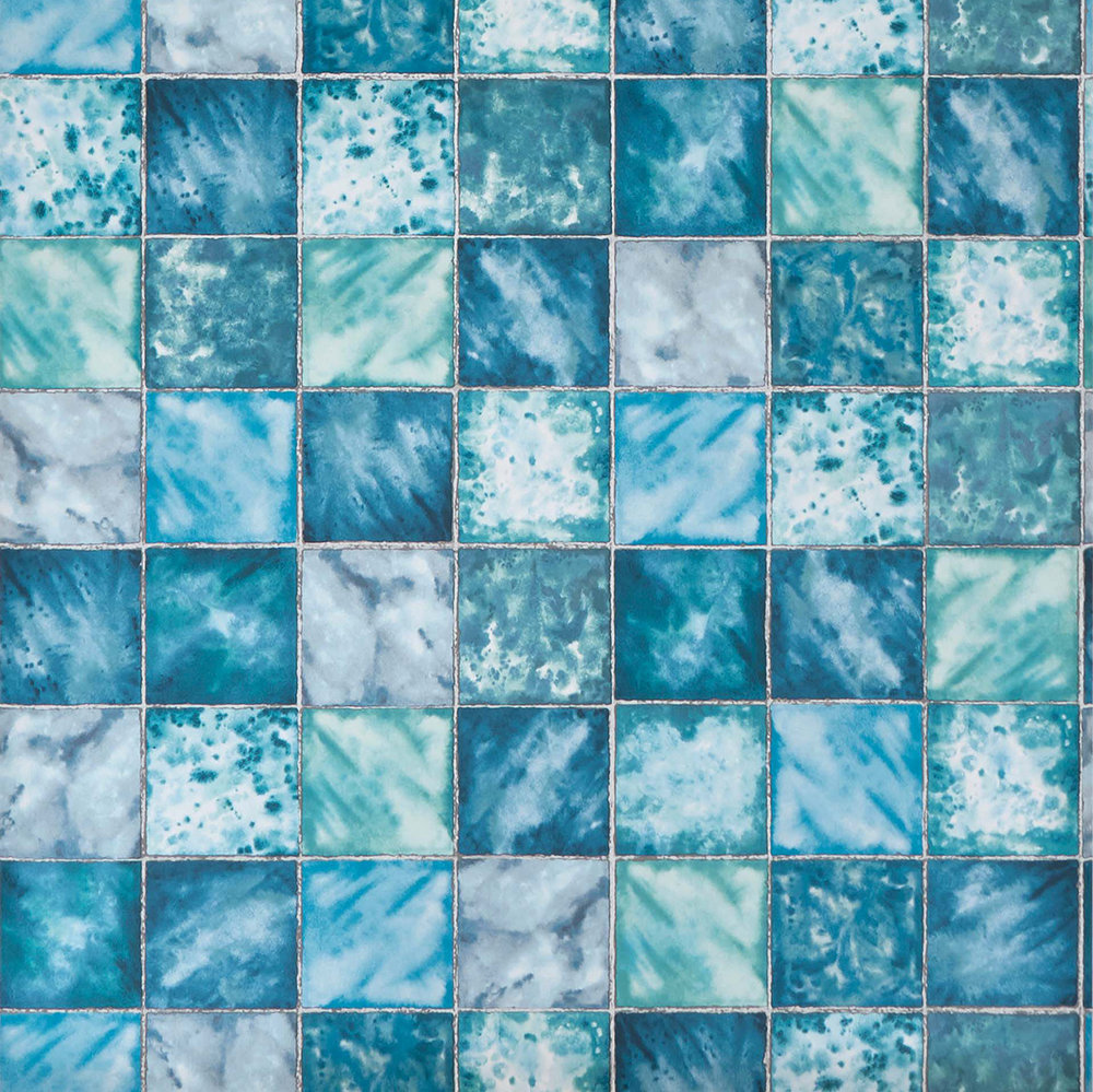 Osborne & Little Hammam Teal Wallpaper - Product code: W7335-02