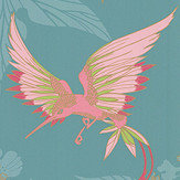 Osborne & Little Grove Garden Teal / Pink Wallpaper - Product code: W5603-10