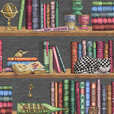 Cole & Son Libreria Multi-coloured Wallpaper - Product code: 114/13025