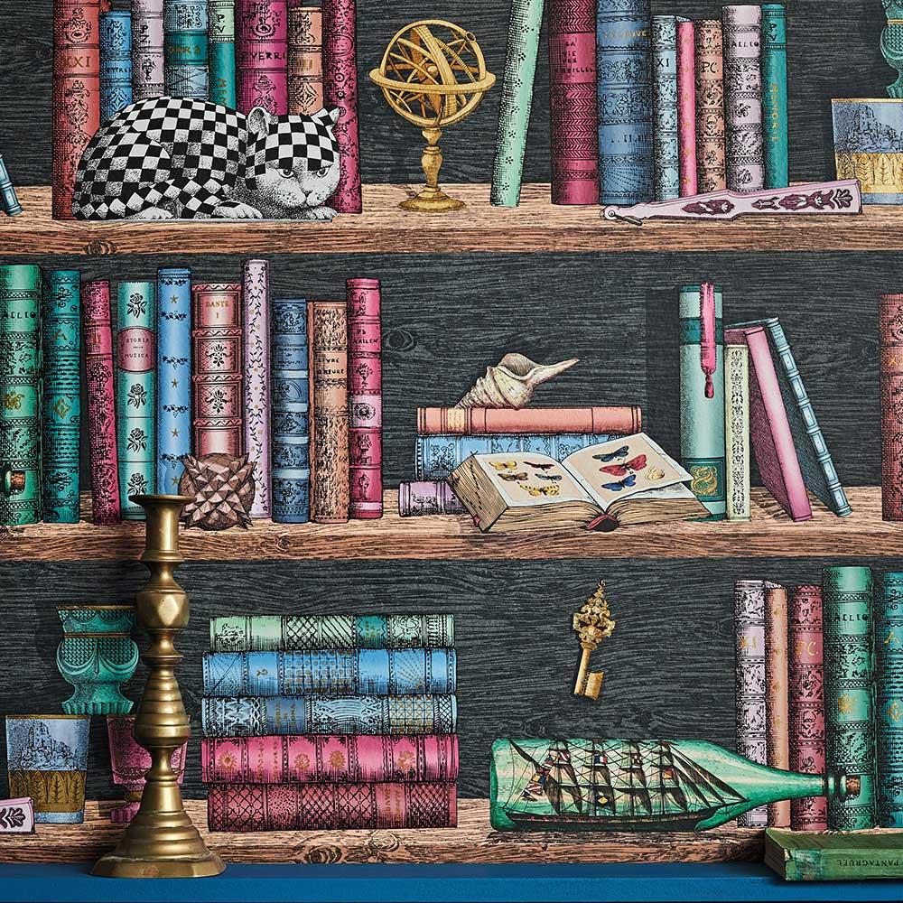 Cole & Son Libreria Multi-coloured Wallpaper - Product code: 114/13025