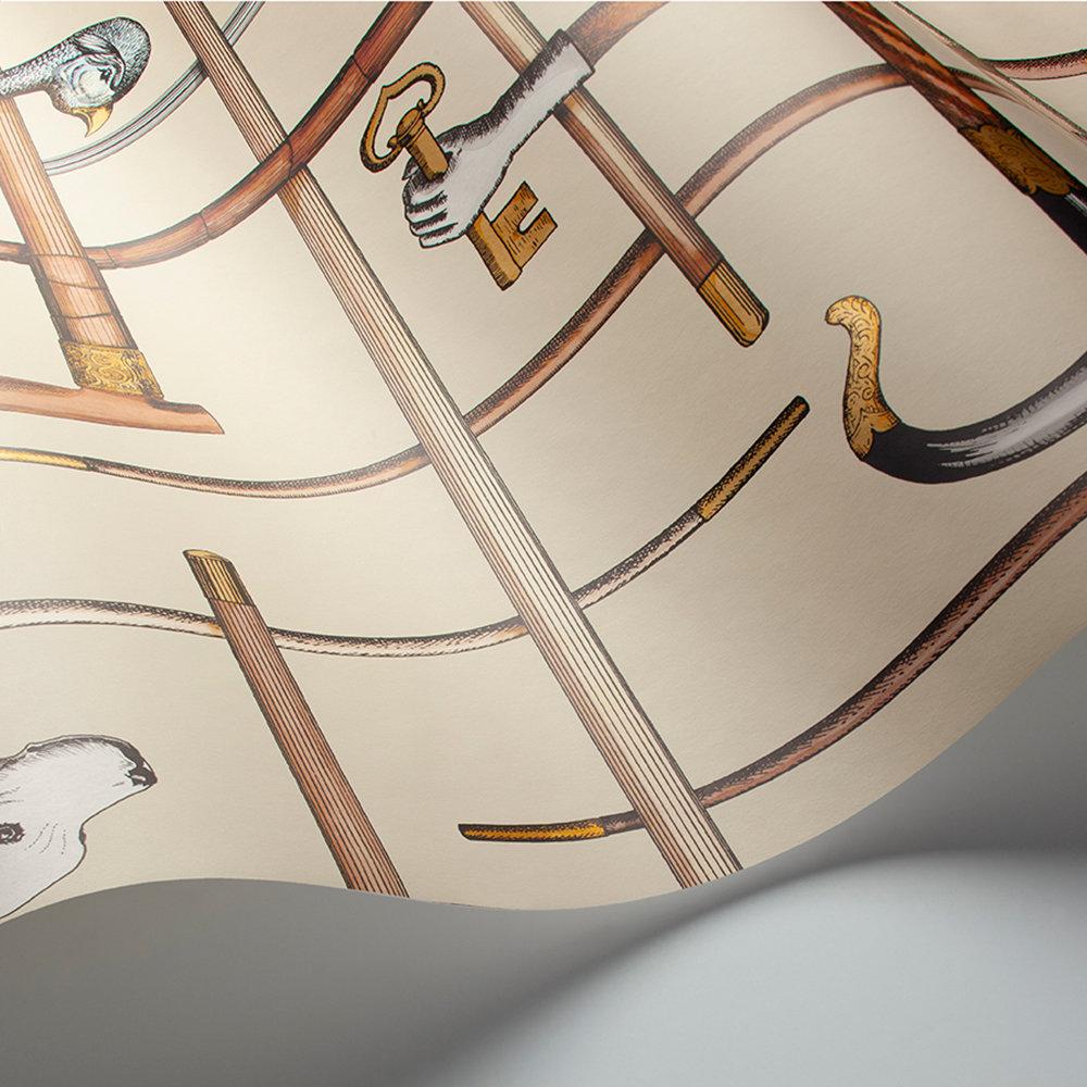 Bastoni Wallpaper - Cream - by Cole & Son