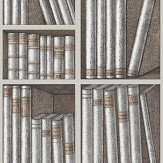 Cole & Son Ex Libris Stone / Linen Wallpaper - Product code: 114/15029