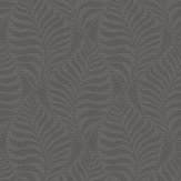 Arthouse Leaf Foil Charcoal Wallpaper - Product code: 903004