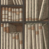 Cole & Son Ex Libris Oat / Charcoal Wallpaper - Product code: 114/15030