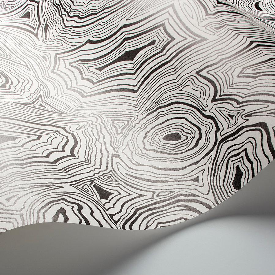 Malachite Wallpaper - Black / White - by Cole & Son