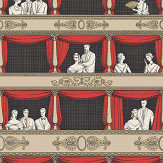 Cole & Son Teatro Linen / Rouge Wallpaper - Product code: 114/18037