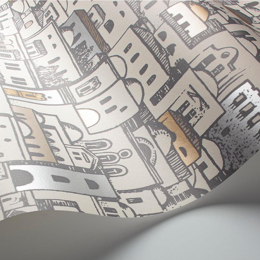 Mediterranea Wallpaper - Parchment / Gilver  - by Cole & Son