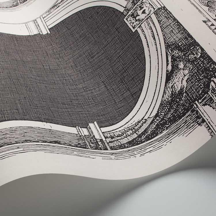 Cole & Son Procuratie e Scimmie Black / White Wallpaper - Product code: 114/22042