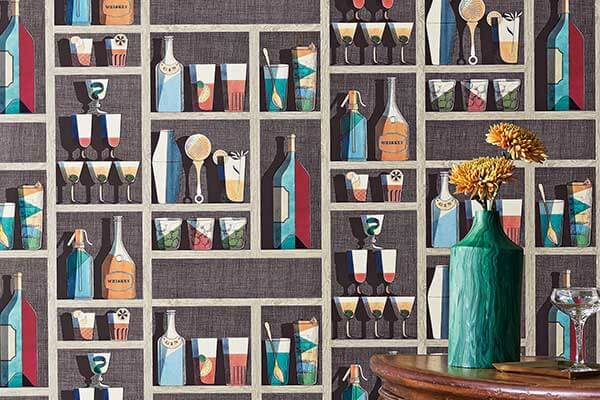 Cole & Son Cocktails Multi-coloured Wallpaper - Product code: 114/23043