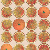 Cole & Son Arance Orange / Stone Wallpaper
