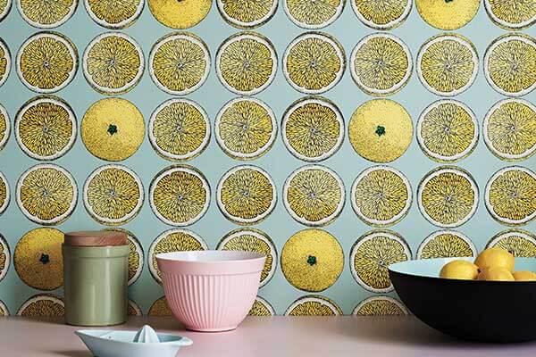 Cole & Son Arance Lemon / Seafoam Wallpaper - Product code: 114/24048