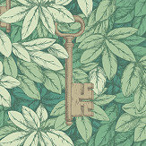 Cole & Son Chiavi Segrete Leaf Green Wallpaper