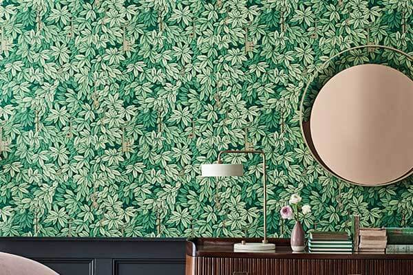 Cole & Son Chiavi Segrete Leaf Green Wallpaper - Product code: 114/26050