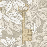 Cole & Son Chiavi Segrete Stone / Gold Wallpaper