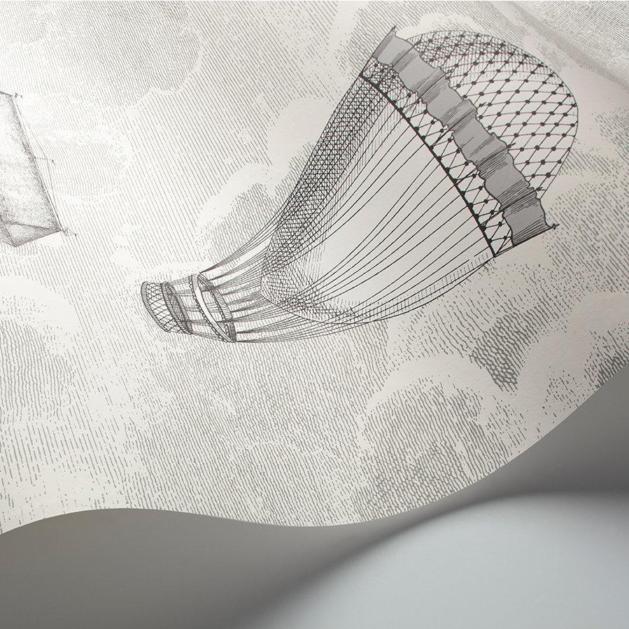 Cole & Son Macchine Volanti Soot / Snow Wallpaper - Product code: 114/27053