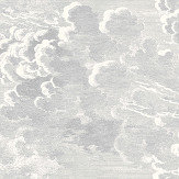 Cole & Son Nuvolette Soot / Snow Wallpaper