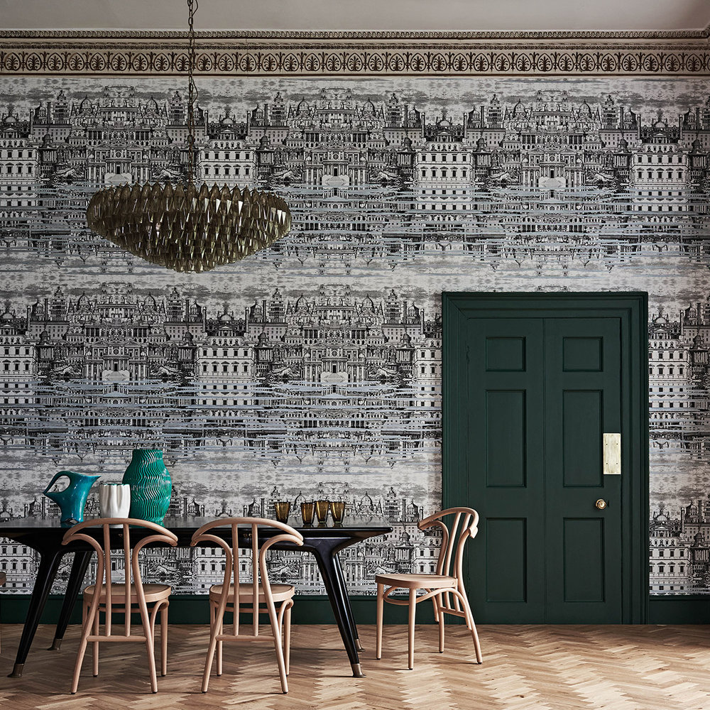 Cole & Son Riflesso Black / White Mural - Product code: 114/20040