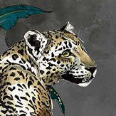 Graduate Collection Cheetah Grey Wallpaper