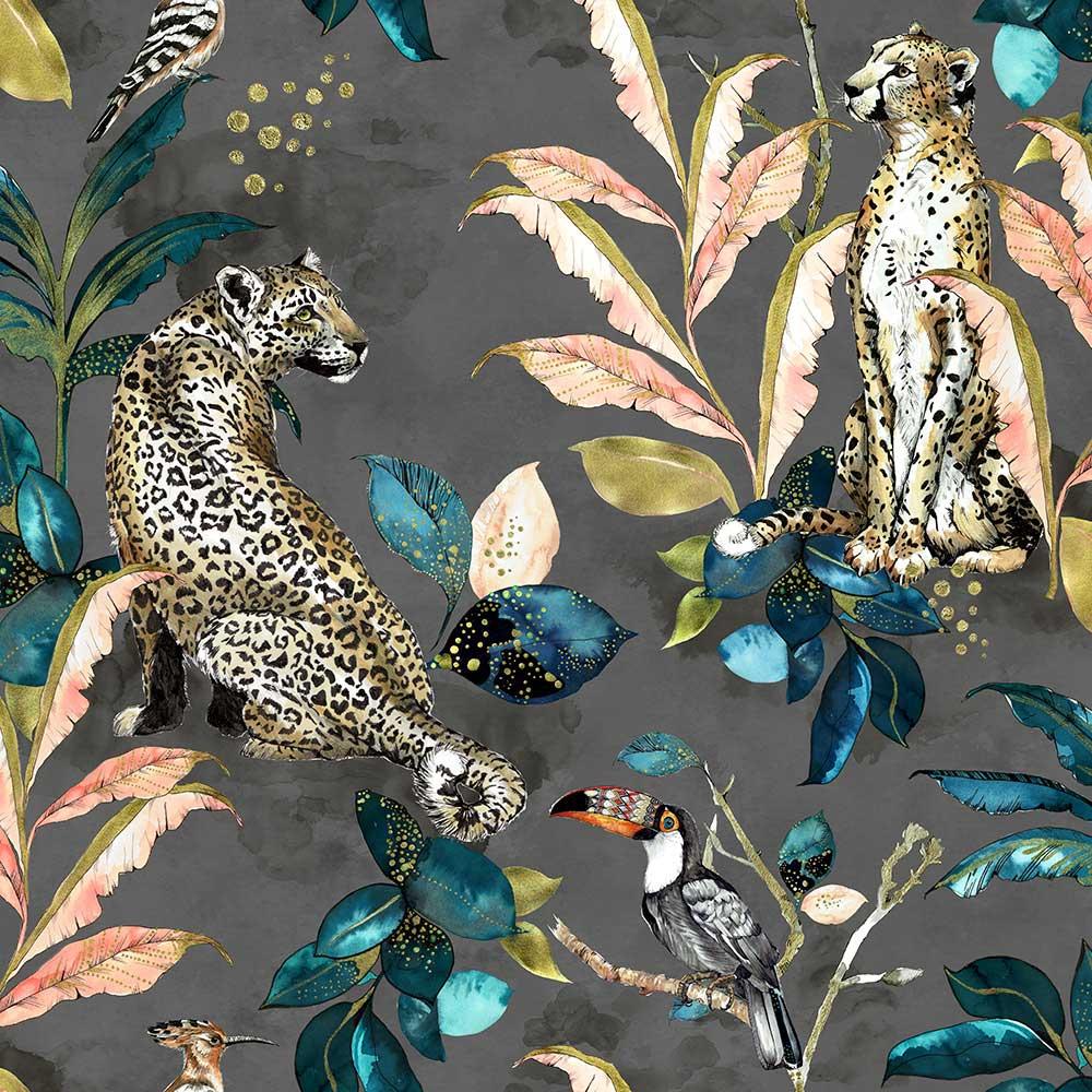 Graduate Collection Cheetah Grey Wallpaper - Product code: LH1CHEWALGREY
