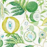 Sanderson Jackfruit Botanical Green Fabric - Product code: 226559