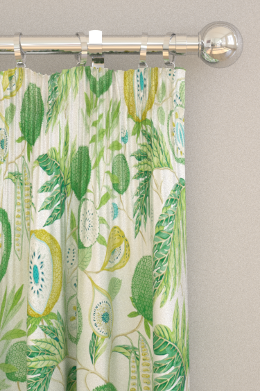 Sanderson Jackfruit Botanical Green Curtains - Product code: 226559
