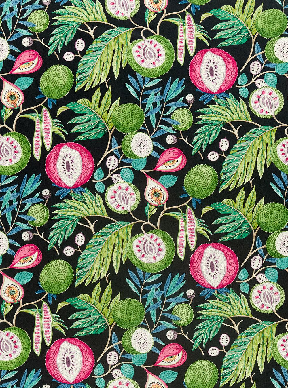 Sanderson Jackfruit Tropical / Ink Fabric - Product code: 226560
