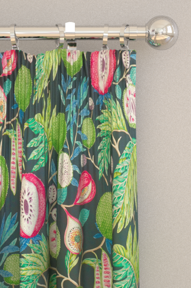 Sanderson Jackfruit Tropical / Ink Curtains - Product code: 226560