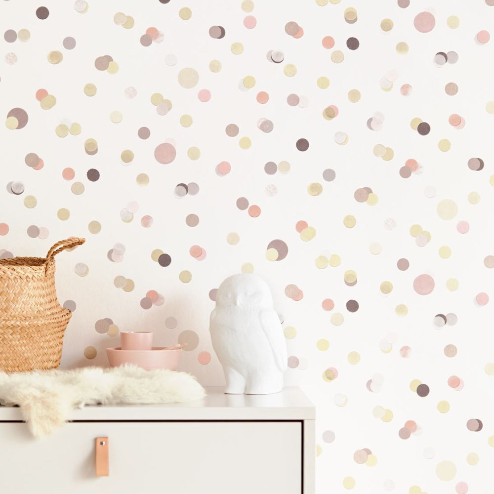 Confetti Wallpaper - Pink - by Eijffinger