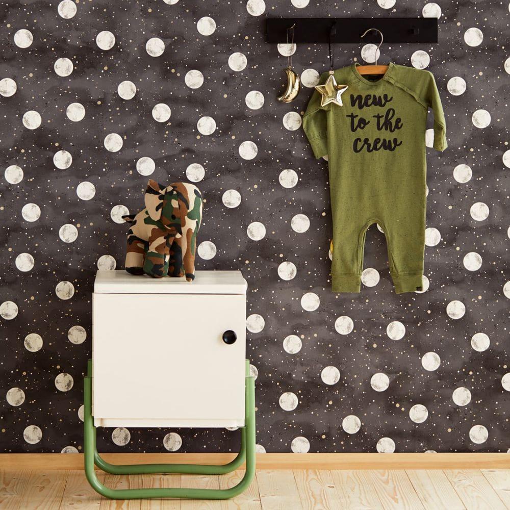 Eijffinger Over the Moon Black Wallpaper - Product code: 399033