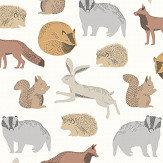 Eijffinger Forest Animals Brown Wallpaper