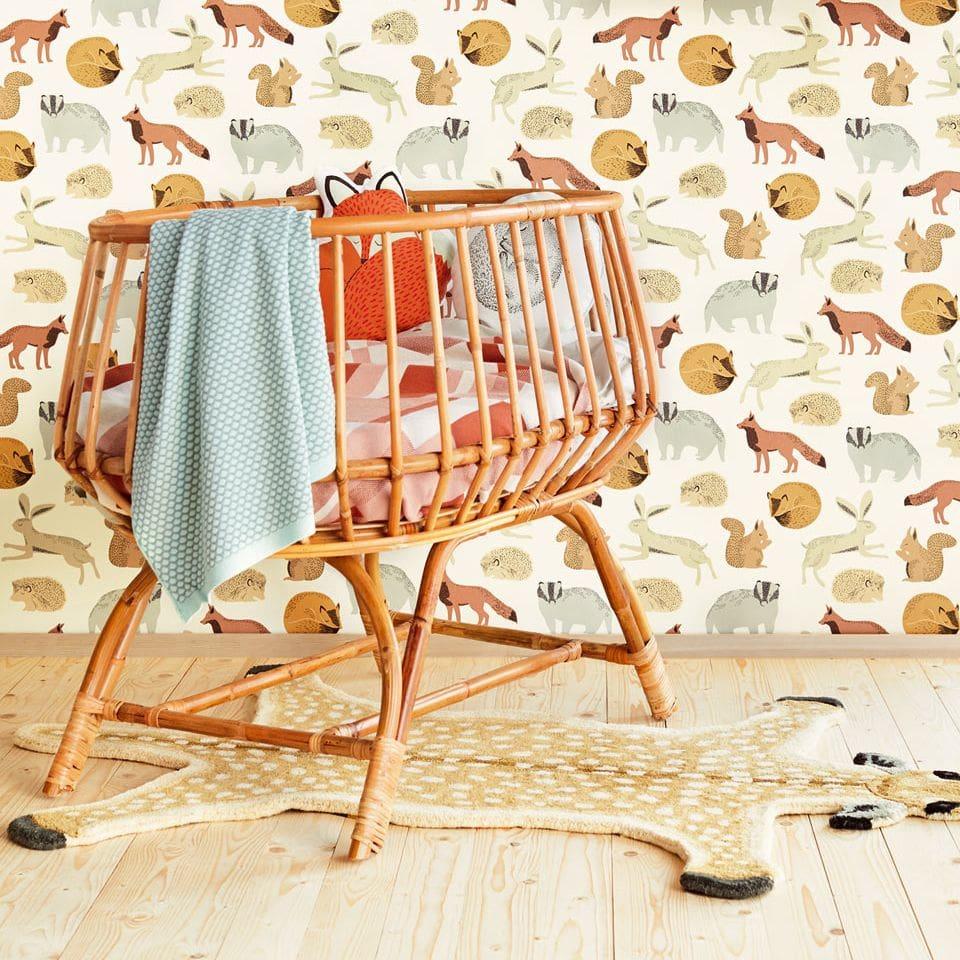 Forest Animals Wallpaper - Brown - by Eijffinger