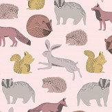 Eijffinger Forest Animals Pink / Yellow Wallpaper