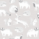 Eijffinger Forest Animals Grey Wallpaper - Product code: 399060