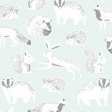 Eijffinger Forest Animals Mint Green Wallpaper - Product code: 399061
