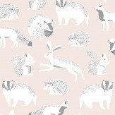 Eijffinger Forest Animals Pink Wallpaper - Product code: 399062