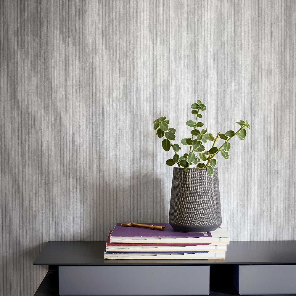 Perpetua Wallpaper - Seal - by Harlequin