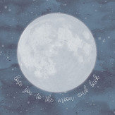 Eijffinger Over the Moon Midnight Blue Mural - Product code: 399119