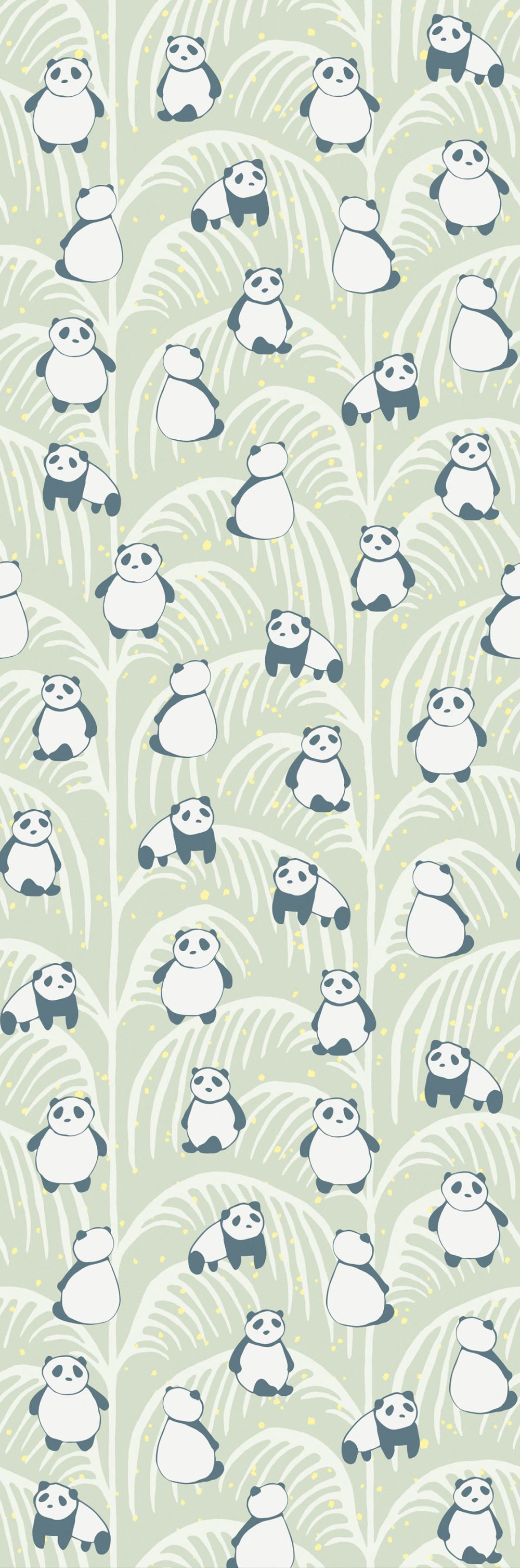Panda Palm Mural - Green - by Eijffinger
