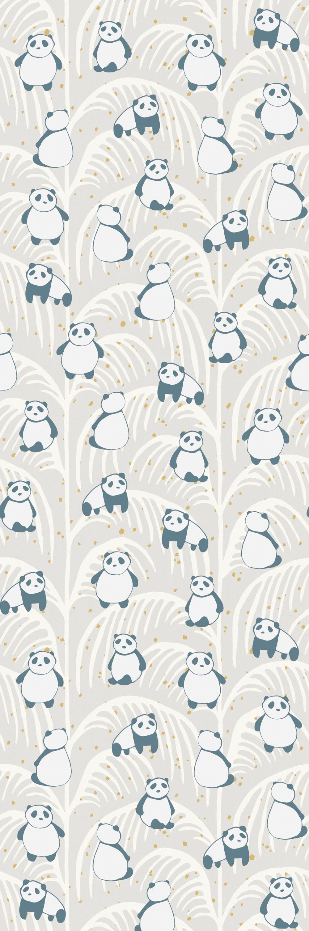 Panda Palm Mural - Sand - by Eijffinger