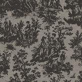 Coordonne Laeken Black and Grey Wallpaper