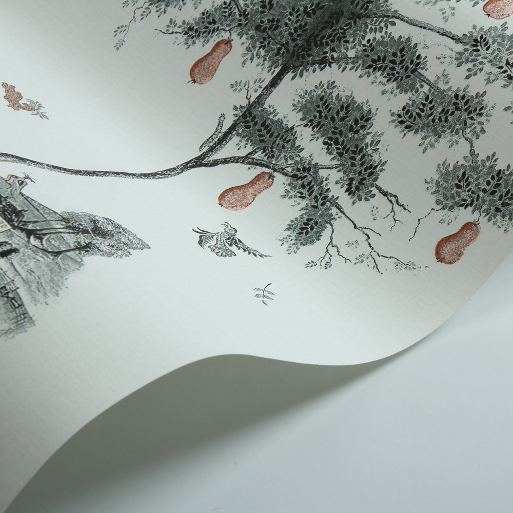 Pear Tree Wallpaper - Graphite - by Andrew Martin