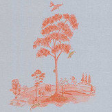 Andrew Martin Pear Tree Sunset Orange Wallpaper - Product code: PT04-SUNSETORANGE