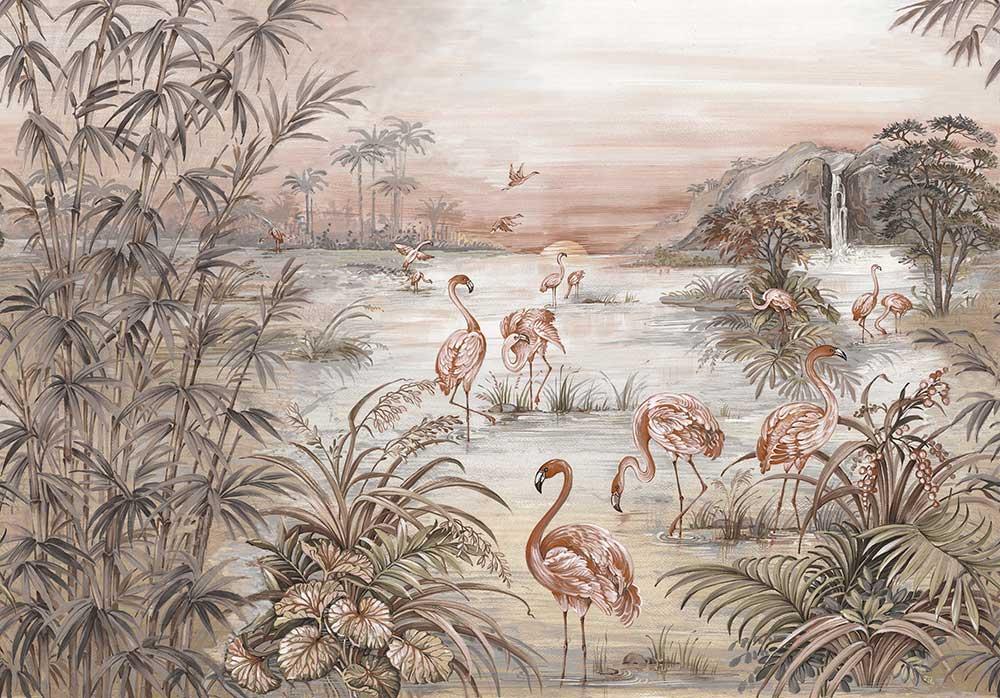 Roseus Mural - by Coordonne