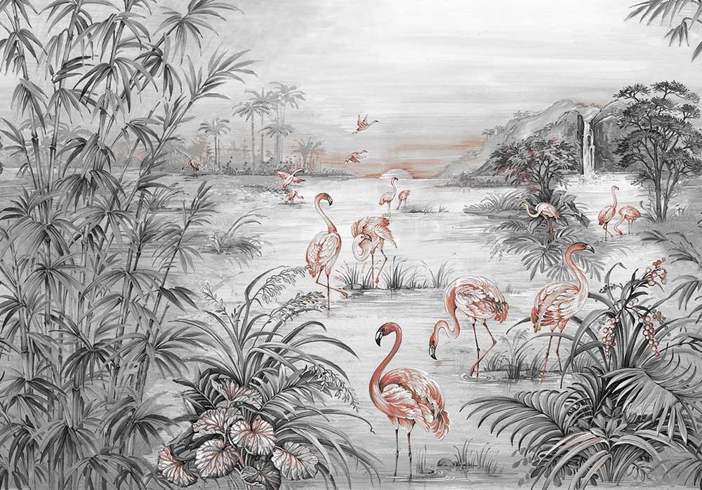 Roseus Mural - Chia Seed - by Coordonne