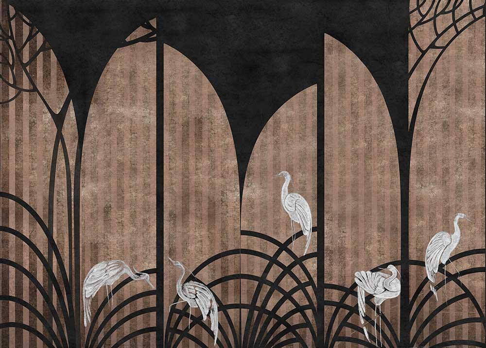 Tassel Mural - Coal - by Coordonne