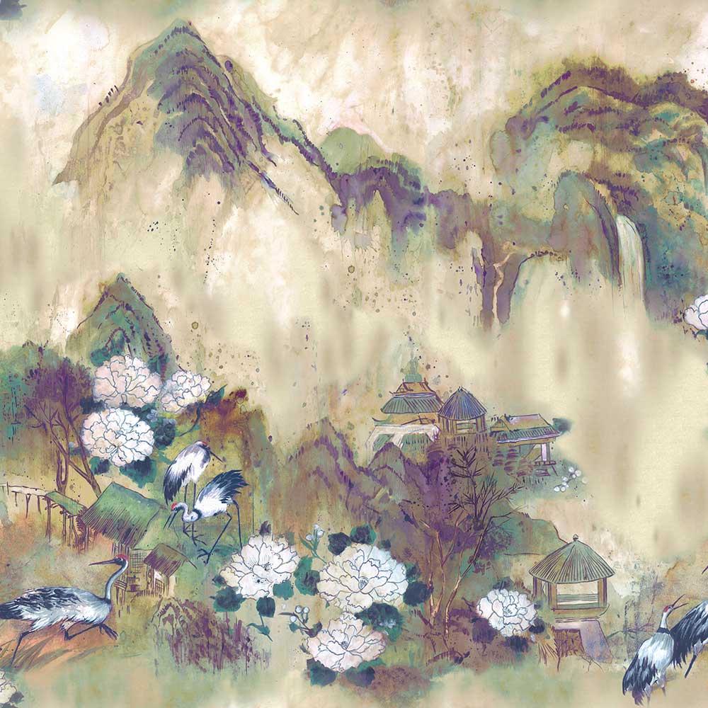 Kasgar Mural - Grape - by Coordonne