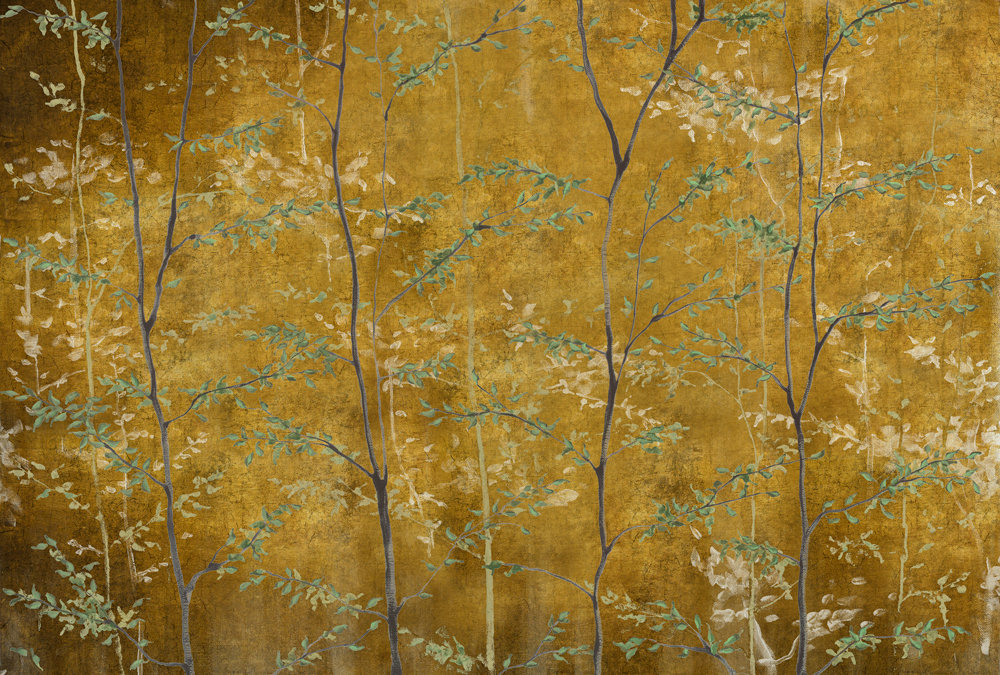 Woods Mural - Gold - by Coordonne