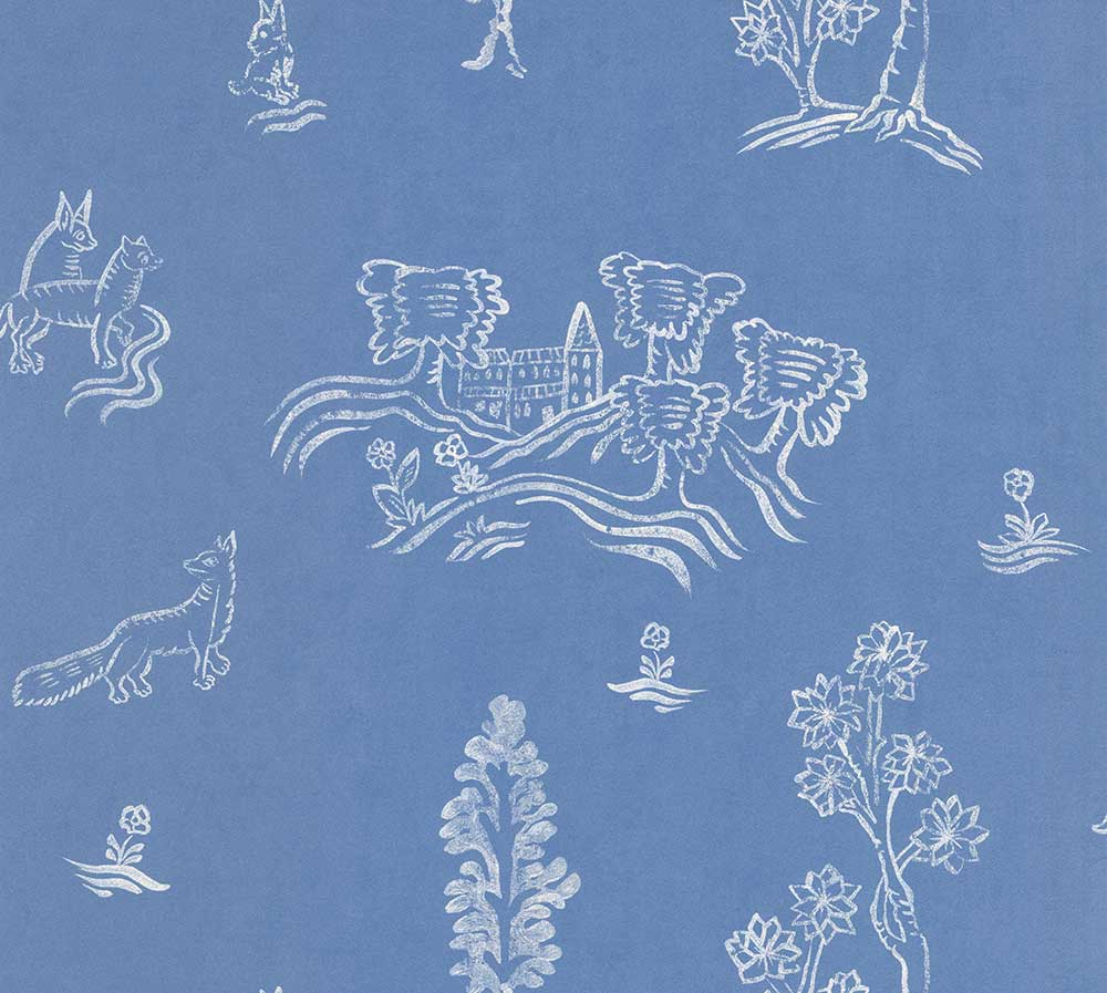 Andrew Martin Wychwood  Happy Blue Wallpaper - Product code: WY03-HAPPYBLUE